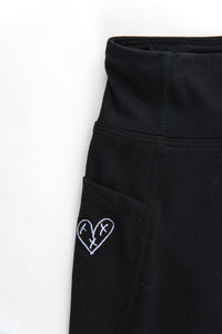 Heartblaster Logo Leggings (Black)