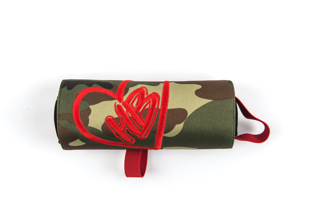 HB Logo Camo and Red Pencil Pouch