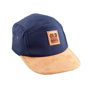 Gorra clasica 5 panels etiqueta cuero - Old Dogs Clothing