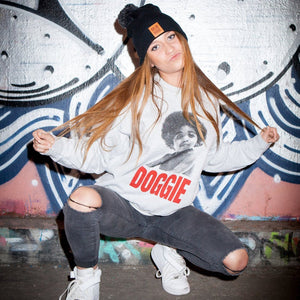Sudadera Doggie Smalls / Gris - Old Dogs Clothing