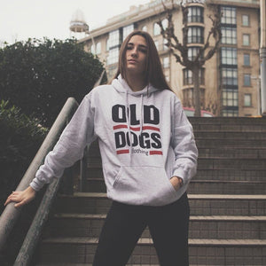 Sudadera Old Dogs Clásica Capucha / Gris - Old Dogs Clothing