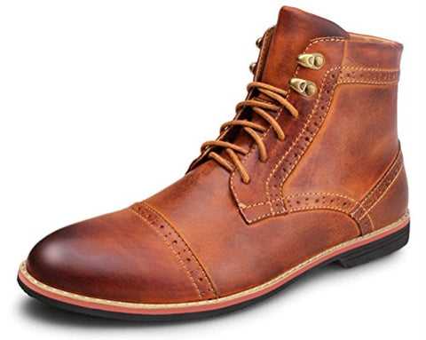 Classy Men's Leather Classic Lace Up Shoes