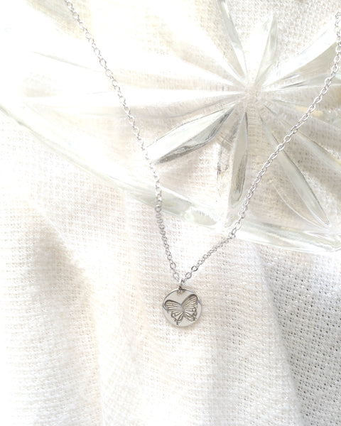 Dainty Butterfly Necklace | IB Jewelry