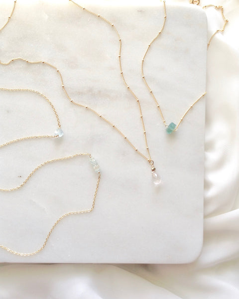 Minimalist Gemstone Necklaces