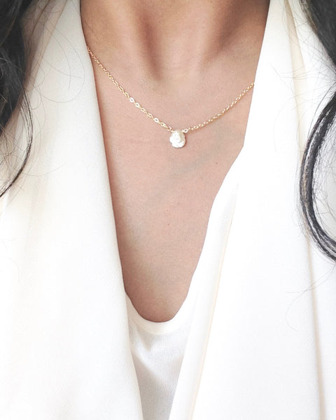 Keshi Pearl Necklace | Organic Pearl Necklace | IB Jewelry