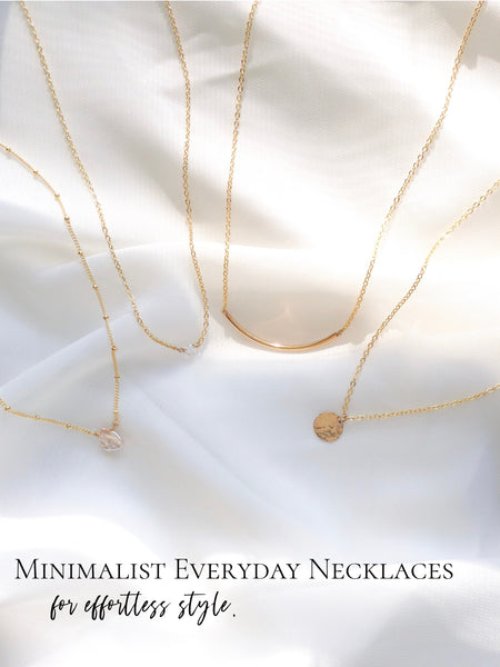 Minimalist Everyday Necklaces | Affordable Delicate Jewelry | IB Jewelry