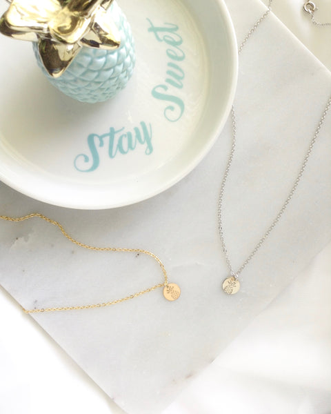 Pineapple Necklace | Cute Dainty Jewelry