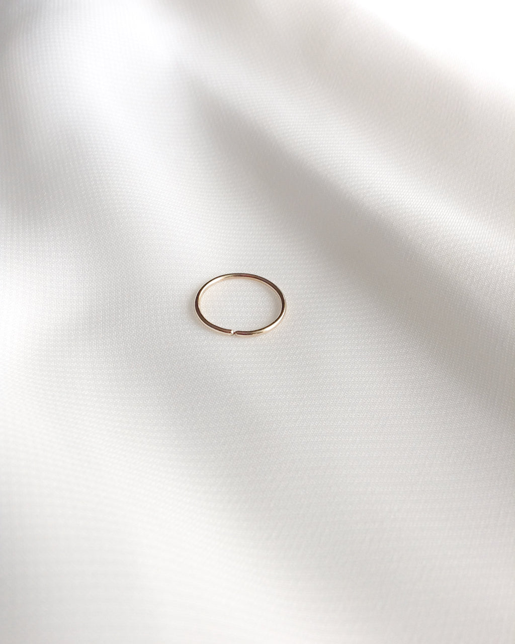 Snug Nose Ring in Gold Filled Sterling Silver or Rose Gold Filled | Small Nose Ring Hoop | IB Jewelry