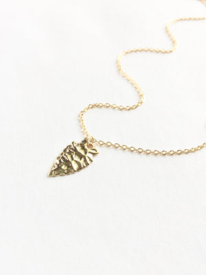 Boho Small Arrowhead Necklace | IB Jewelry