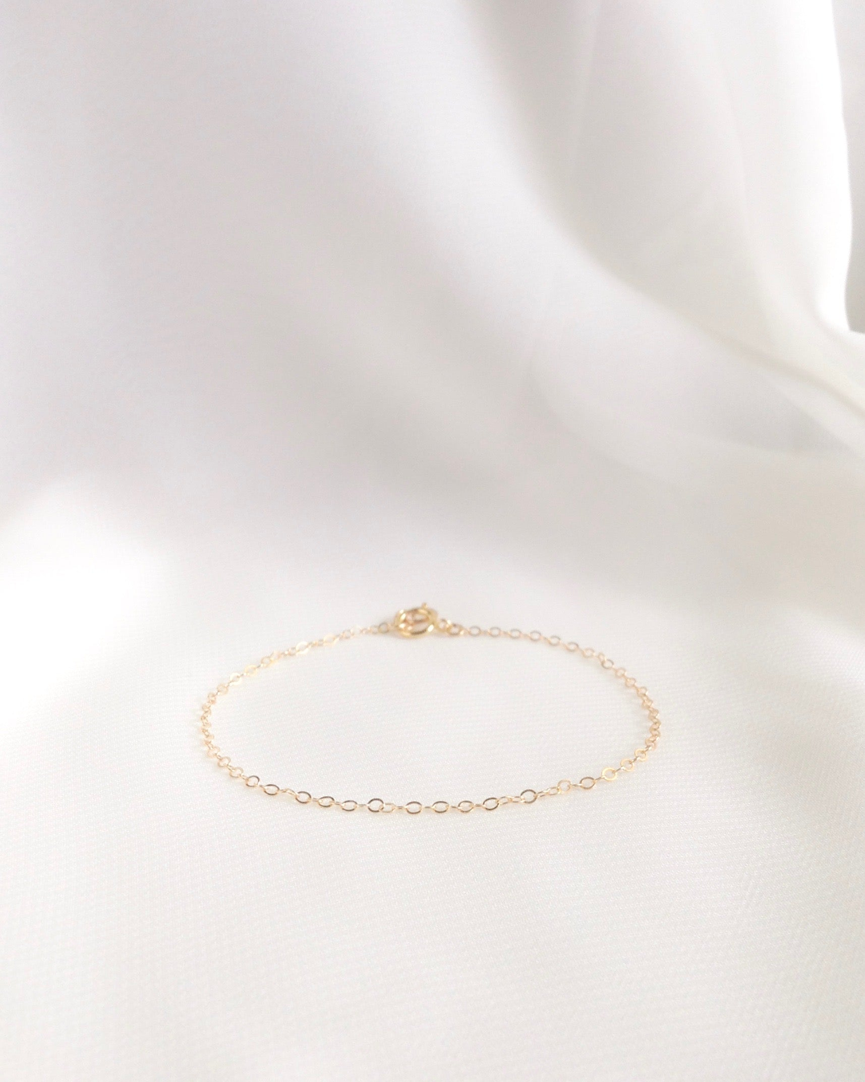 Minimalist Everyday Bracelet in Gold Filled or Sterling Silver | IB Jewelry