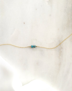Turquoise Choker in Gold Filled or Sterling Silver | Simple Delicate Choker | Minimalist Choker | IB Jewelry