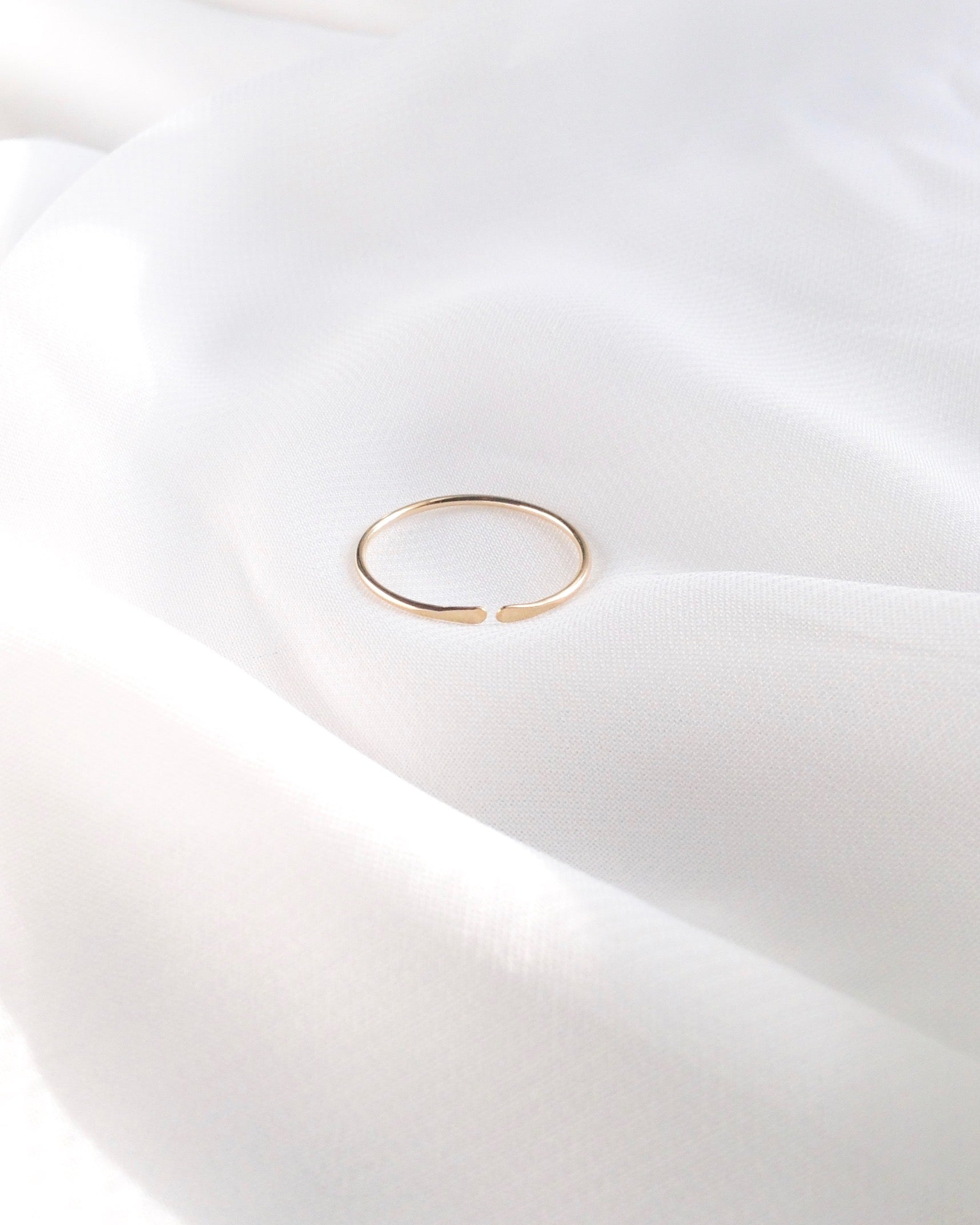Thin Open Cuff Ring | Delicate Stacking Ring | IB Jewelry