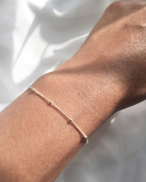 Satellite Bracelet | Delicate Thin Chain Bracelet | IB Jewelry