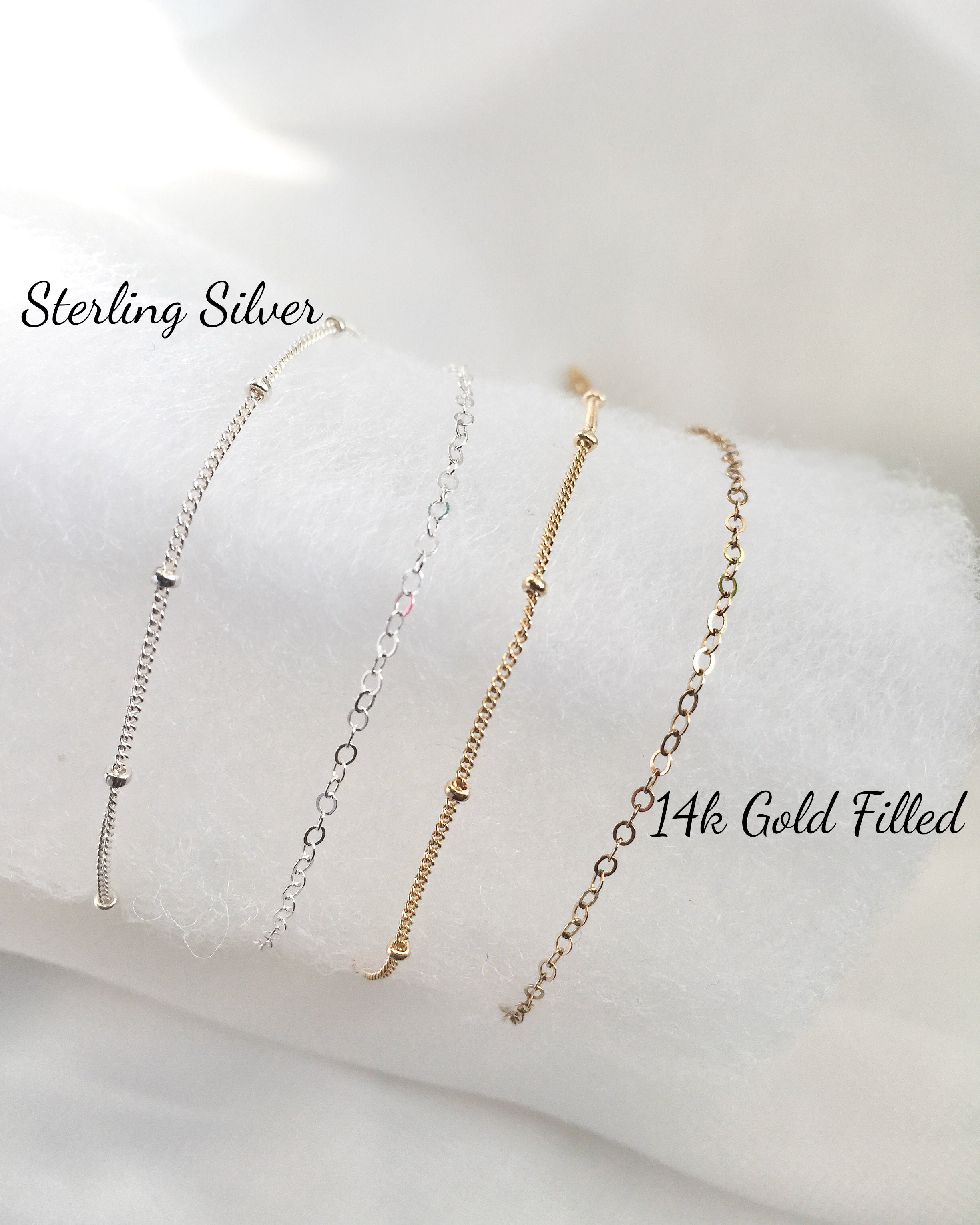 Dainty Everyday Bracelets in Gold Filled or Sterling Silver | IB Jewelry