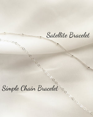 Dainty Bracelet Set | Simple Delicate Chain Bracelets | IB Jewelry