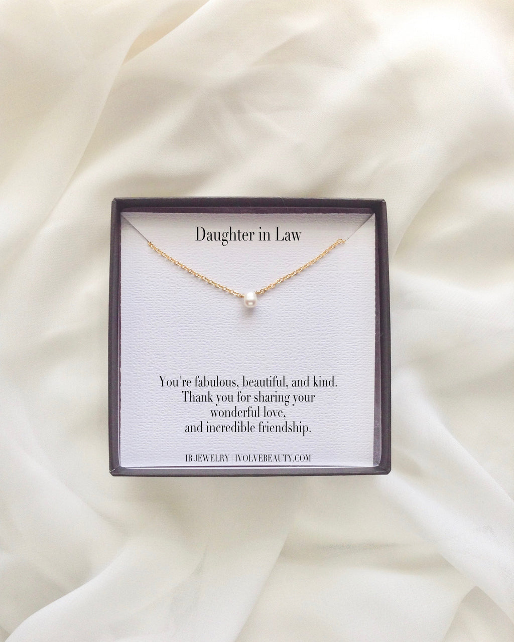 Daughter in Law Meaningful Necklace Gift | IB Jewelry