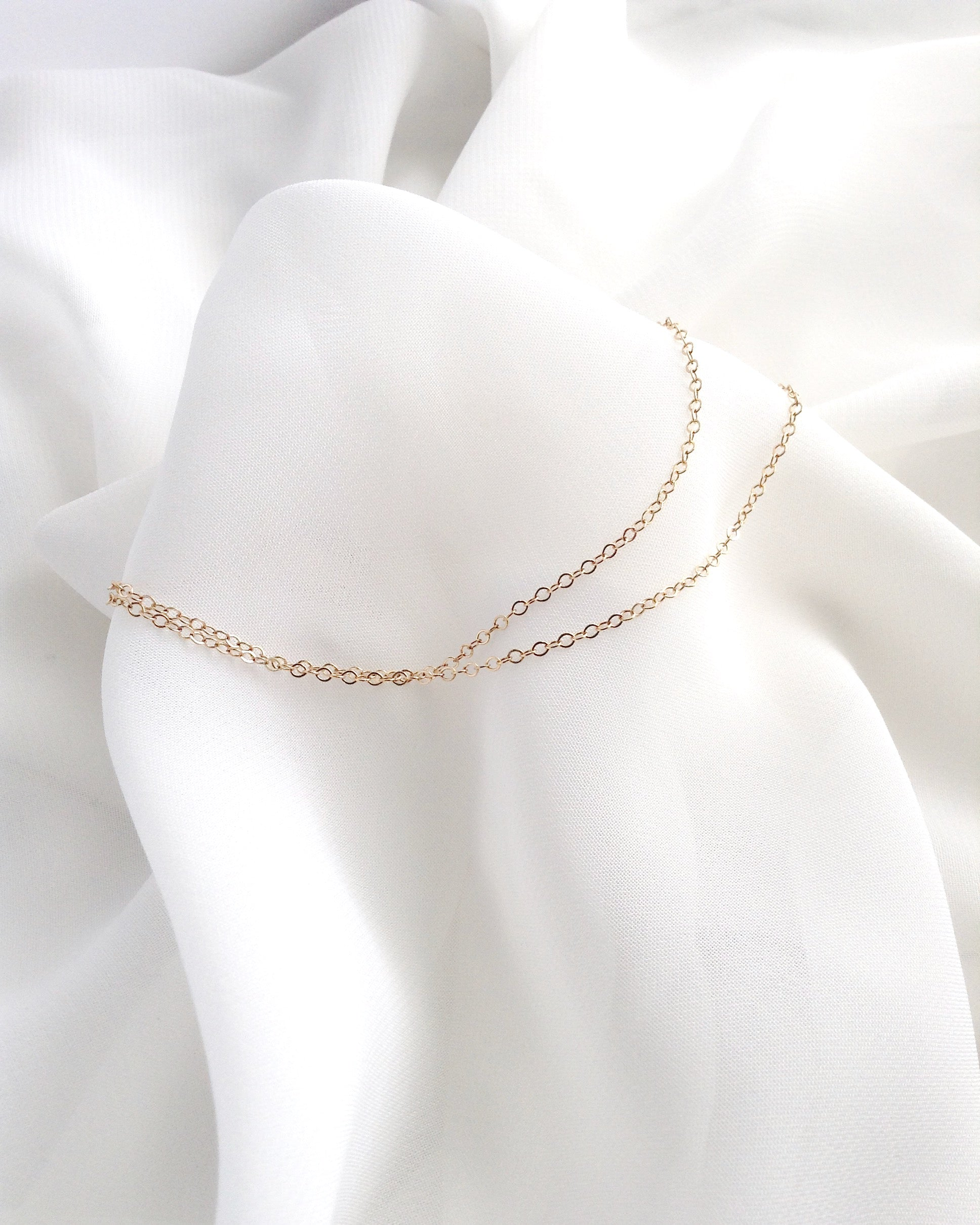 Delicate Anklet | Double Chain Anklet | Dainty Gold Anklet | IB Jewelry