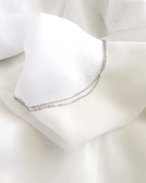 Double Chain Anklet | Minimalist Anklet | Dainty Silver Anklet | IB Jewelry