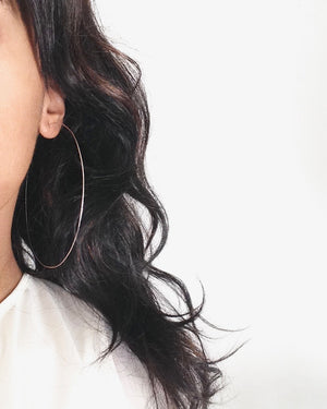 Simple Big Hoop Earrings | IB Jewelry