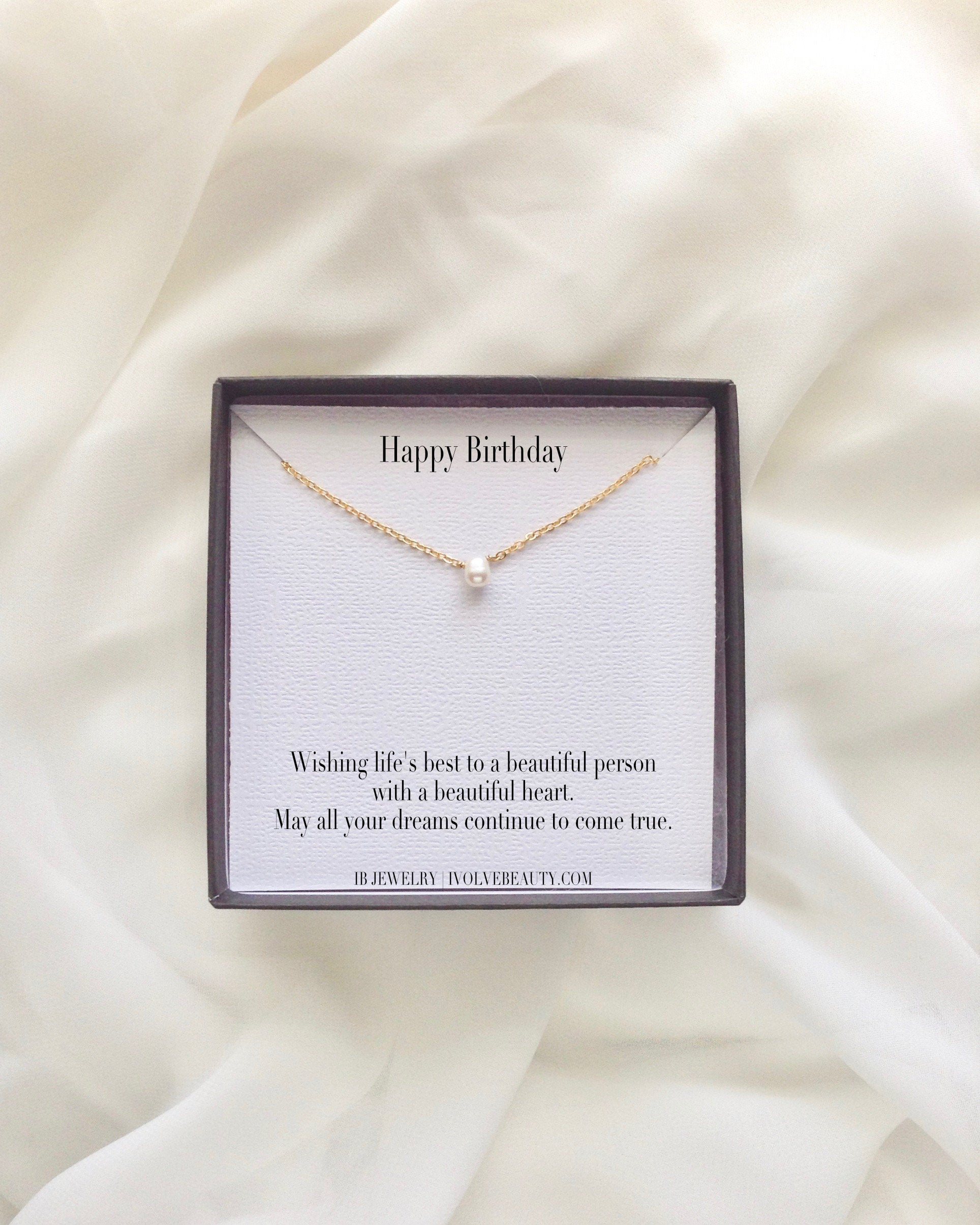Happy Birthday Meaningful Necklace Gift | Encouragement Necklace | IB Jewelry