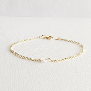Herkimer Diamond Bracelet | Simple Dainty Bracelet | IB Jewelry
