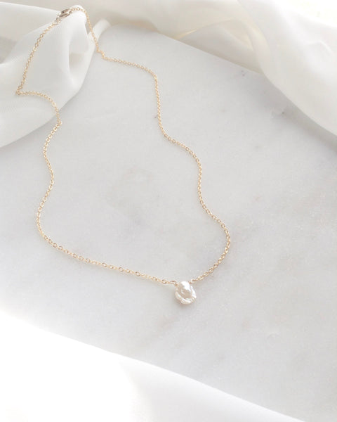 Keshi Pearl Necklace | Dainty Pearl Necklace | IB Jewelry
