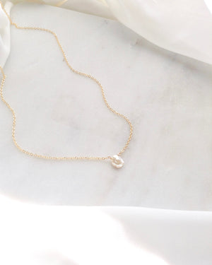 Keshi Single Pearl Necklace in Gold Filled or Sterling Silver | IB Jewelry