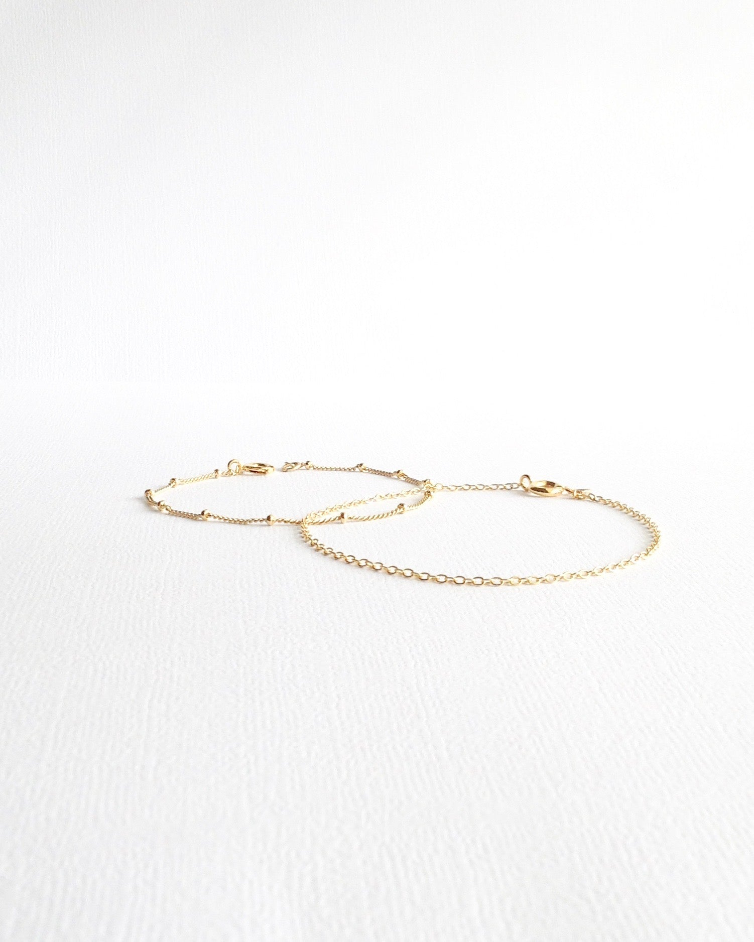 Dainty Everyday Bracelets | Delicate Layered Bracelet Set | IB Jewelry