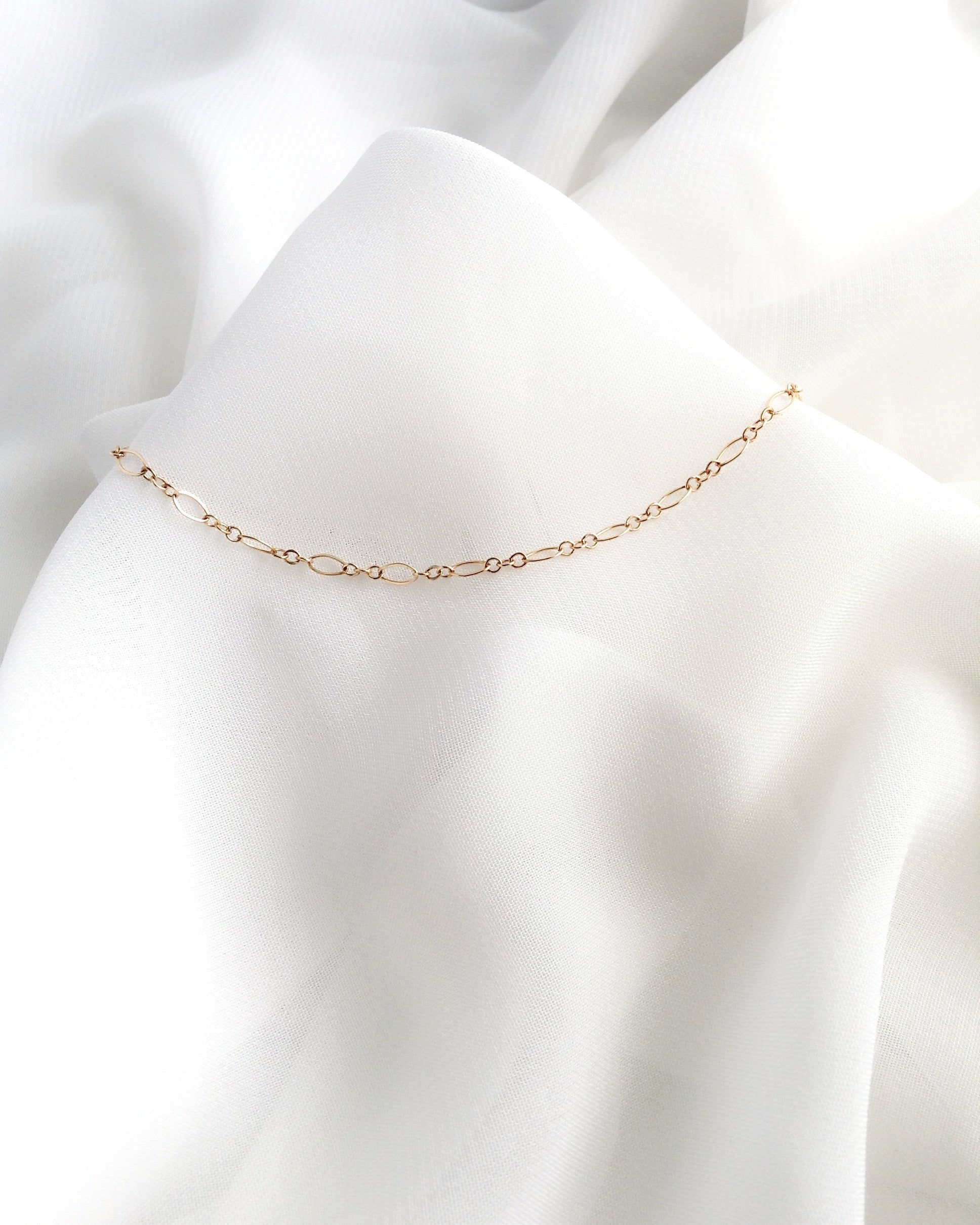 Delicate Minimalist Anklet | Dainty Gold Anklet | Elegant Chain Anklet | IB Jewelry