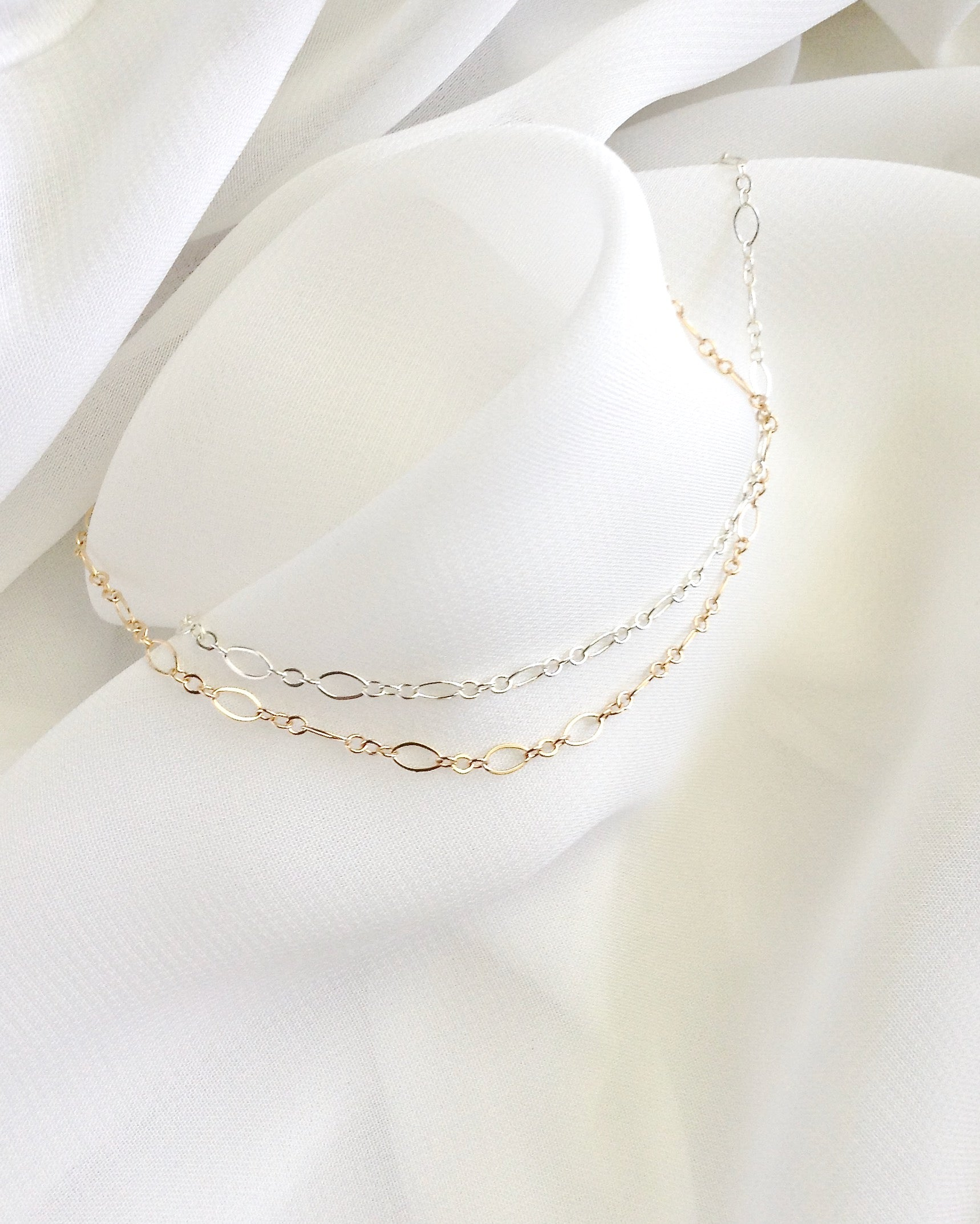 Dainty Anklet in Gold Filled or Sterling Silver | Simple Everyday Classy Anklet | IB Jewelry