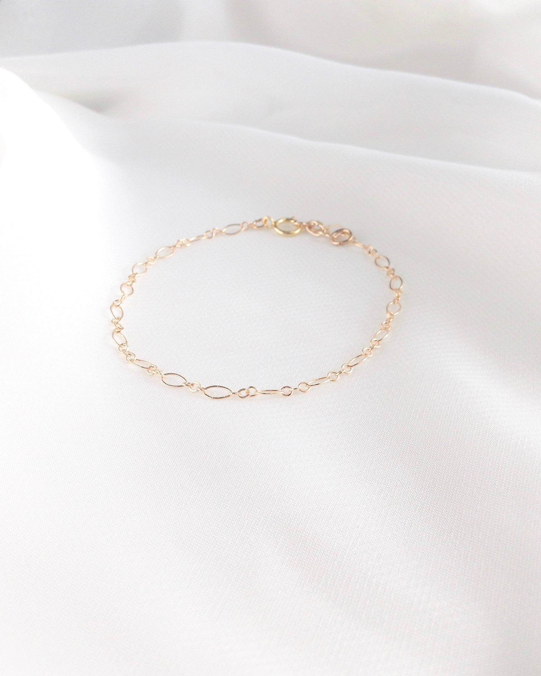 Dainty Minimalist Bracelet in Gold Filled or Sterling Silver | IB Jewelry