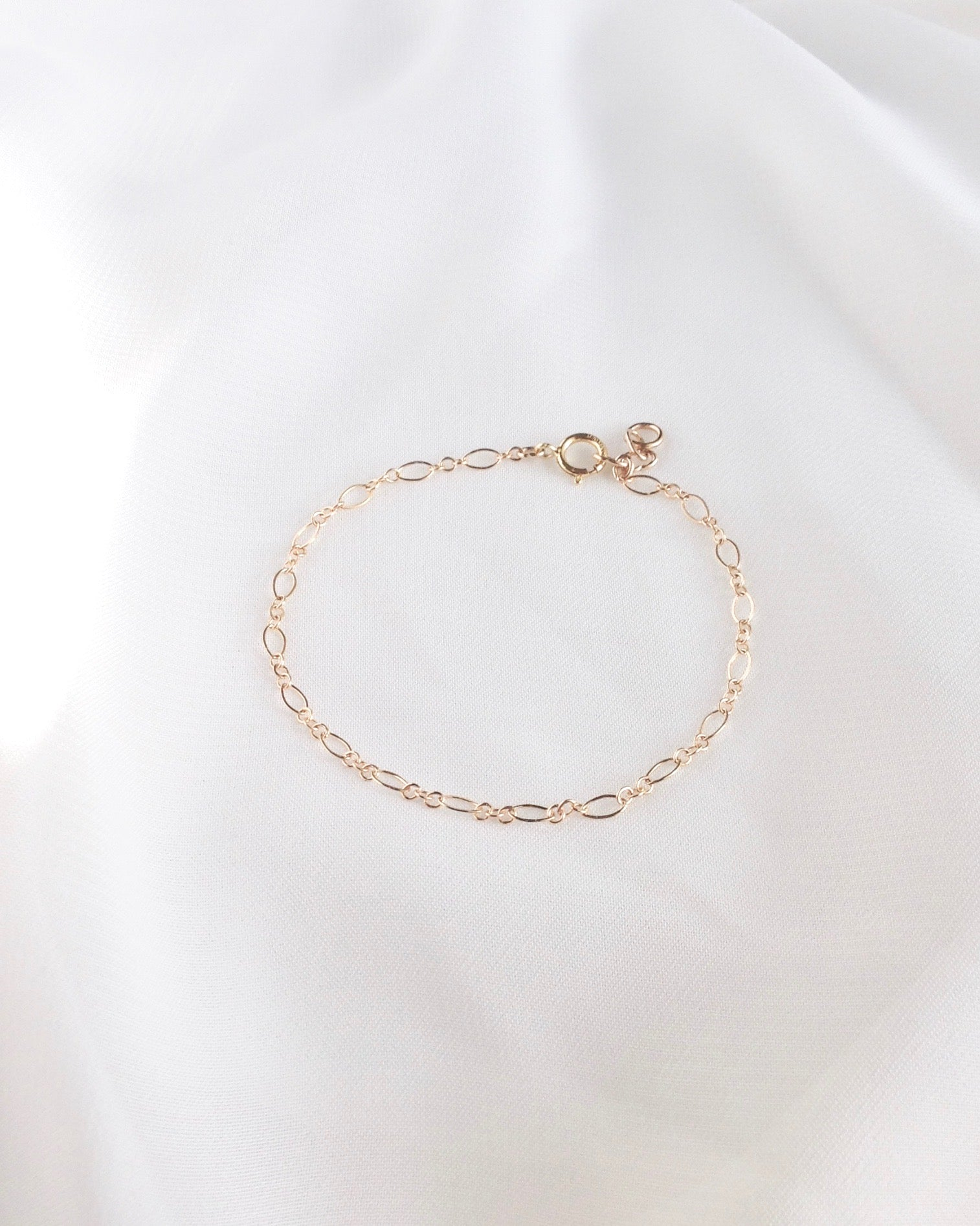 Delicate Minimalist Bracelet in Gold Filled or Sterling Silver | IB Jewelry