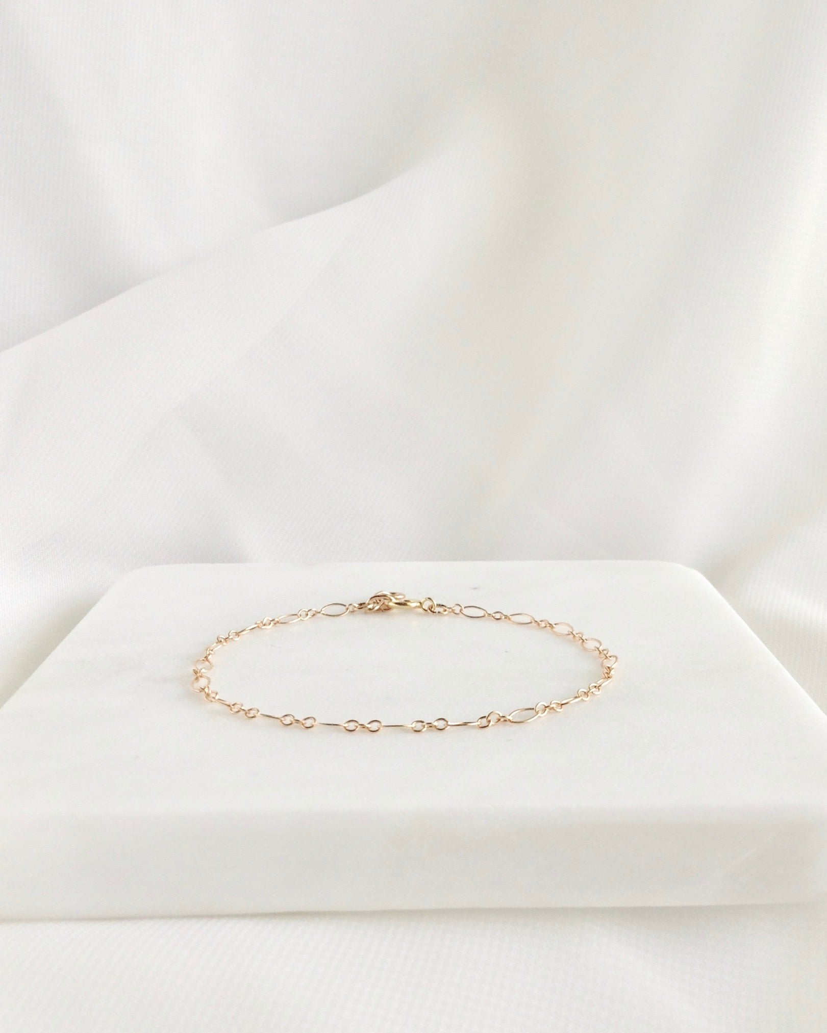 Elegant Everyday Chain Bracelet in Gold Filled or Sterling Silver | IB Jewelry
