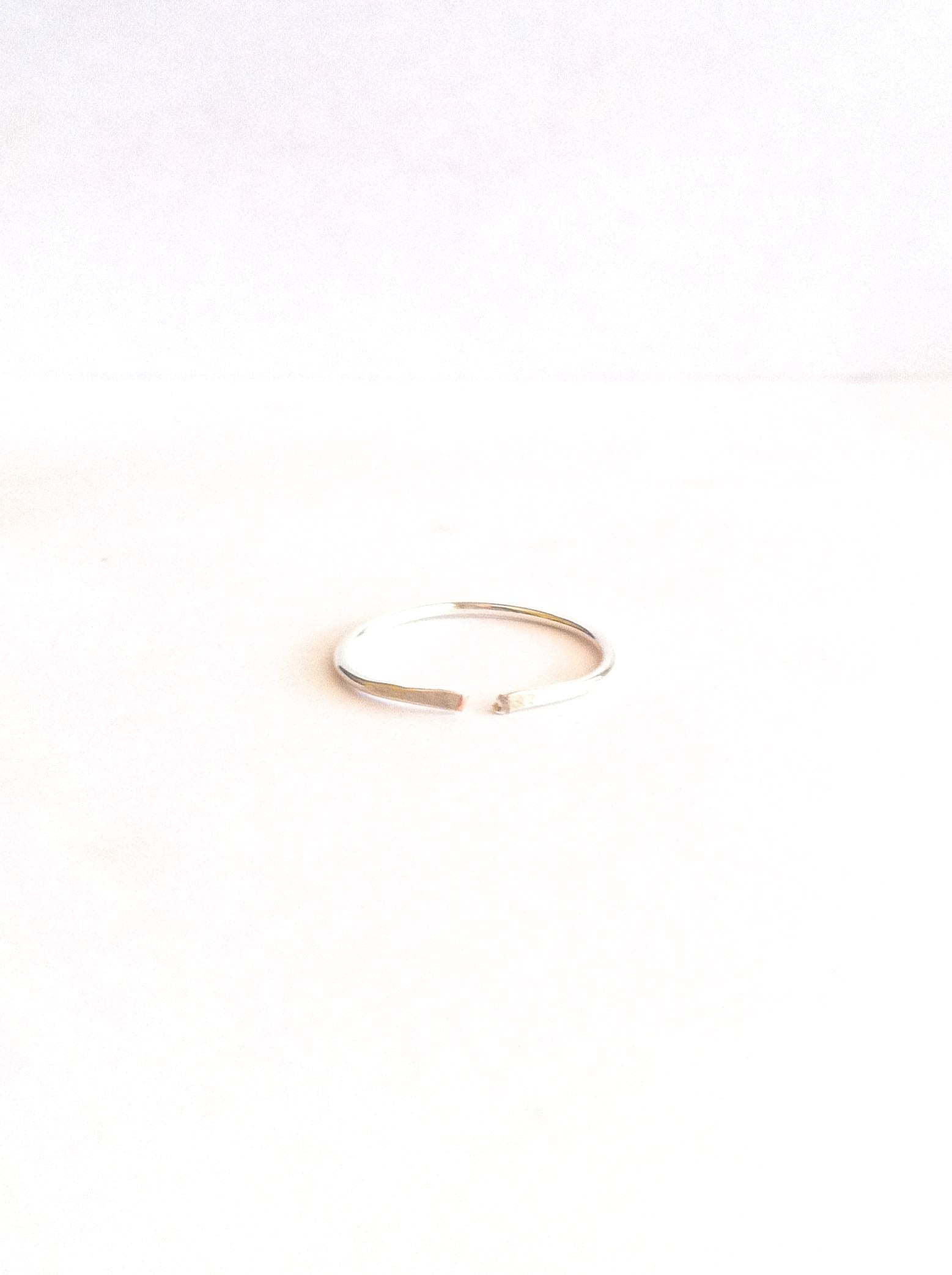 Simple Thin Band Open Cuff Ring | IB Jewelry
