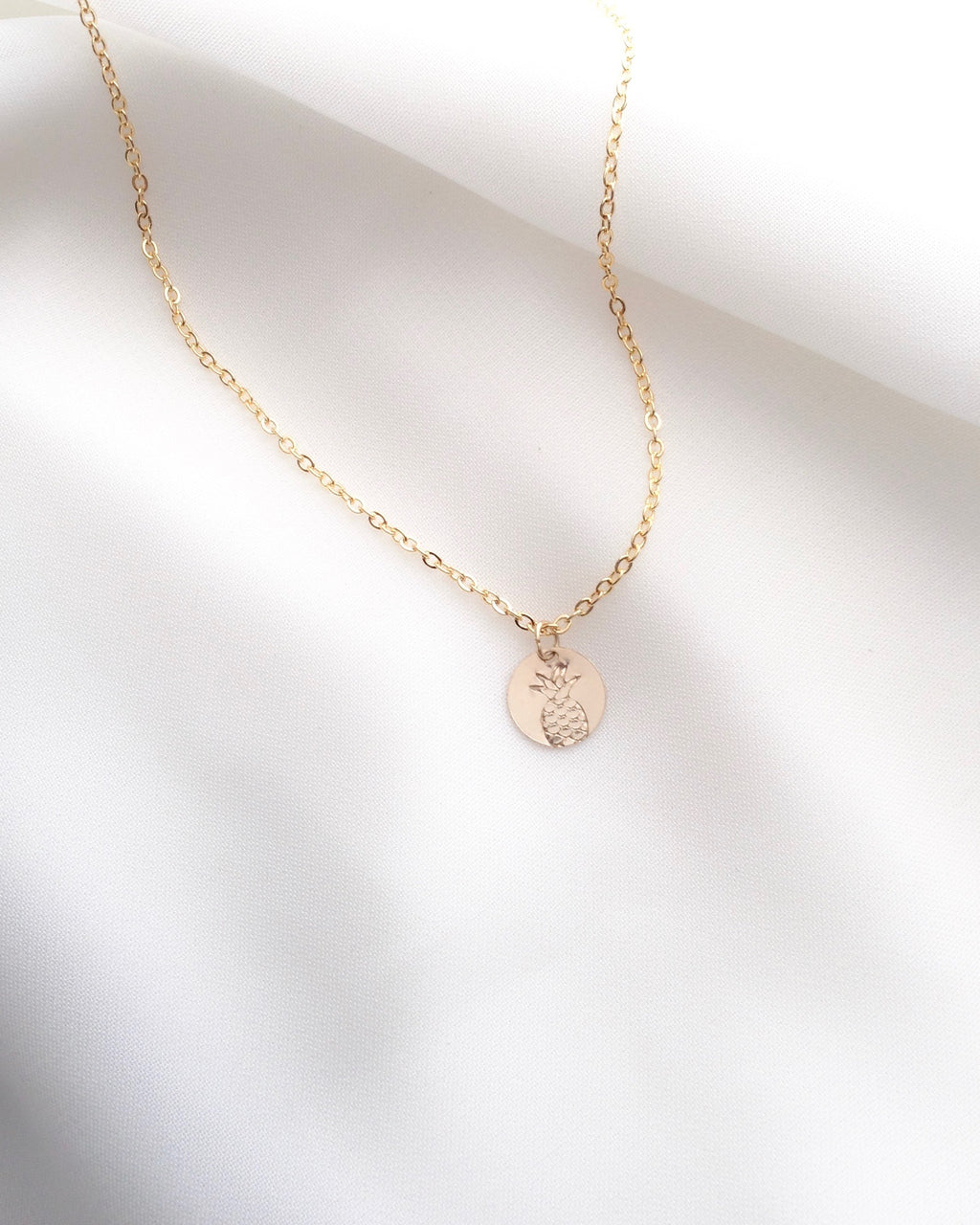 Pineapple Necklace in Gold Filled or Sterling Silver | Small Dainty Necklace | IB Jewelry