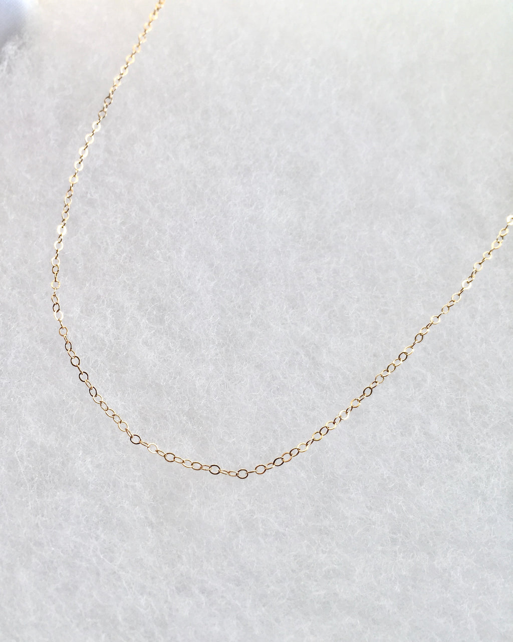 Simple Short Chain Necklace in Gold Filled or Sterling Silver | IB Jewelry