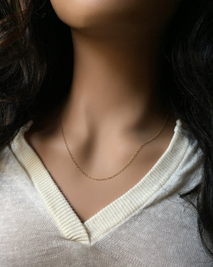 Dainty Thin Everyday Necklace | Plain Thin Chain Necklace | IB Jewelry
