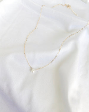 Dainty Pearl Choker Necklace | Real Pearl Choker in Gold Filled or Sterling Silver | IB Jewelry