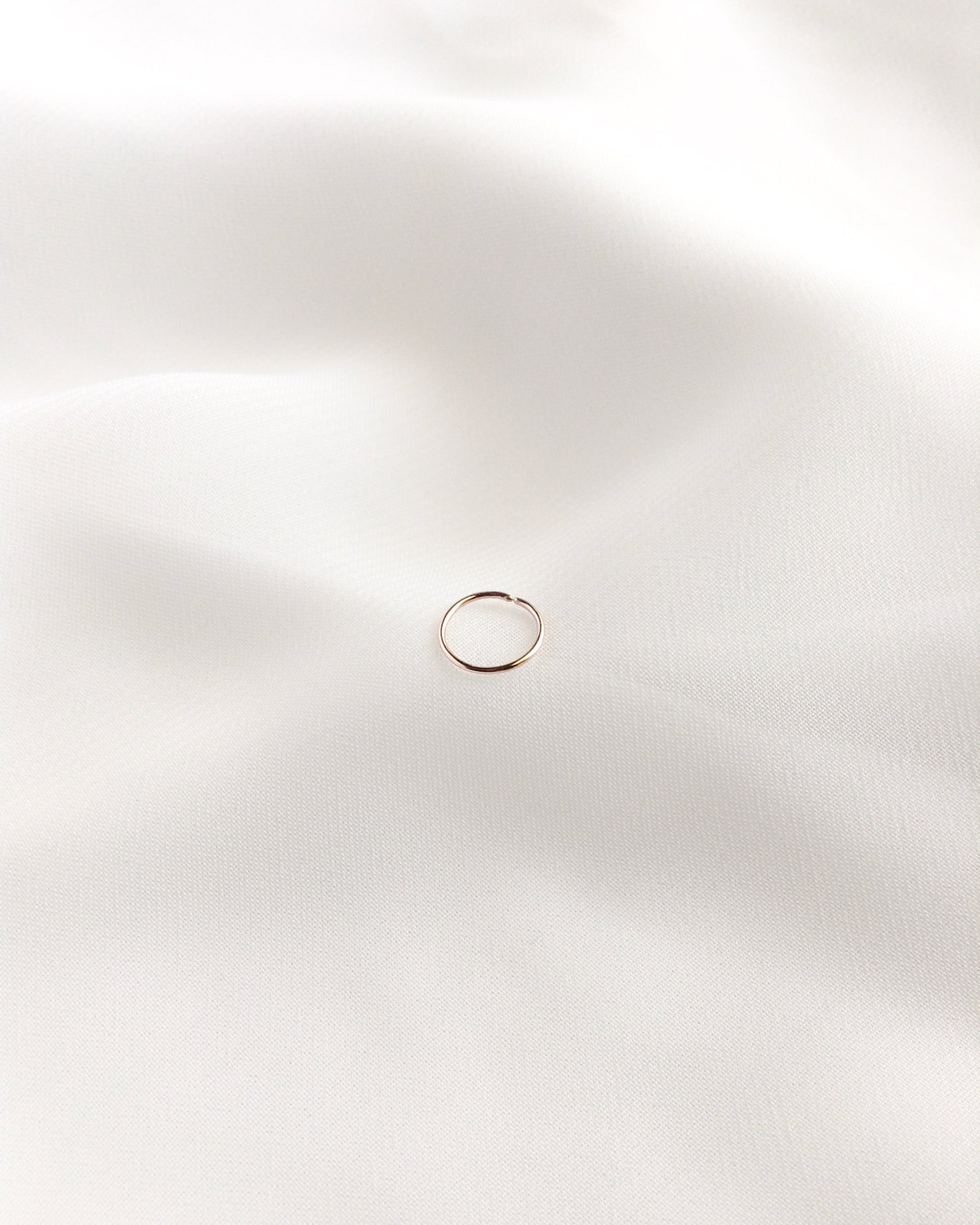 Tiny Cartilage Hoop | 4mm 5mm 6mm 7mm or 8mm Cartilage Hoop | Thin Cartilage Hoop | IB Jewelry