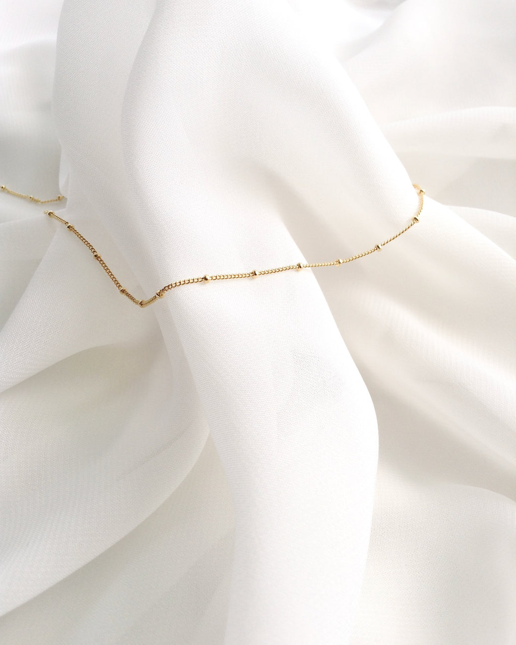 Delicate Anklet | Simple Dainty Anklet in Gold Filled or Sterling Silver | IB Jewelry