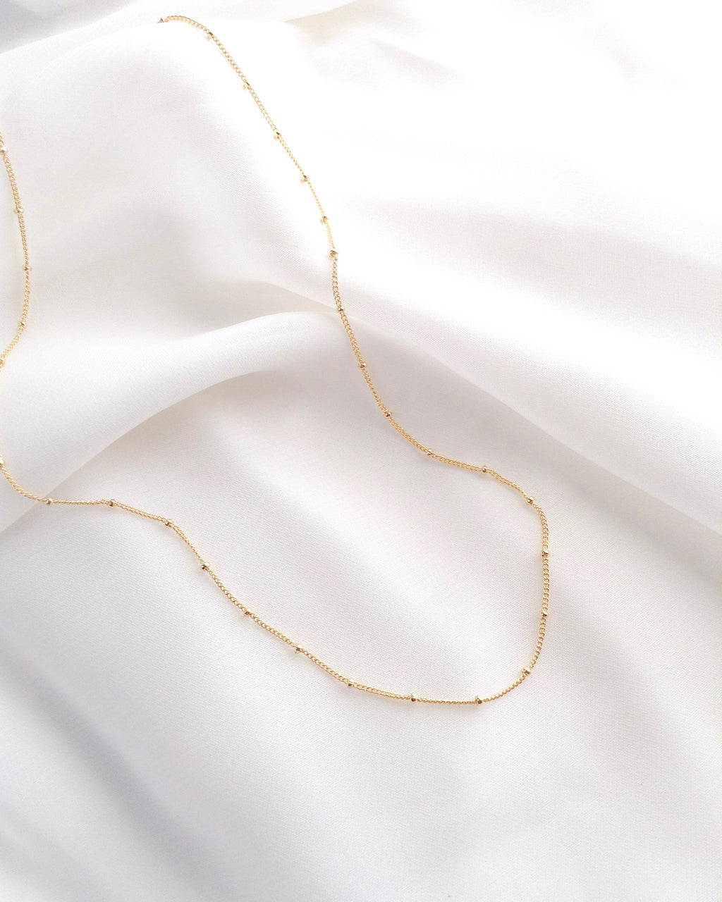 Satellite Chain Simple Elegant Everyday Necklace | IB Jewelry