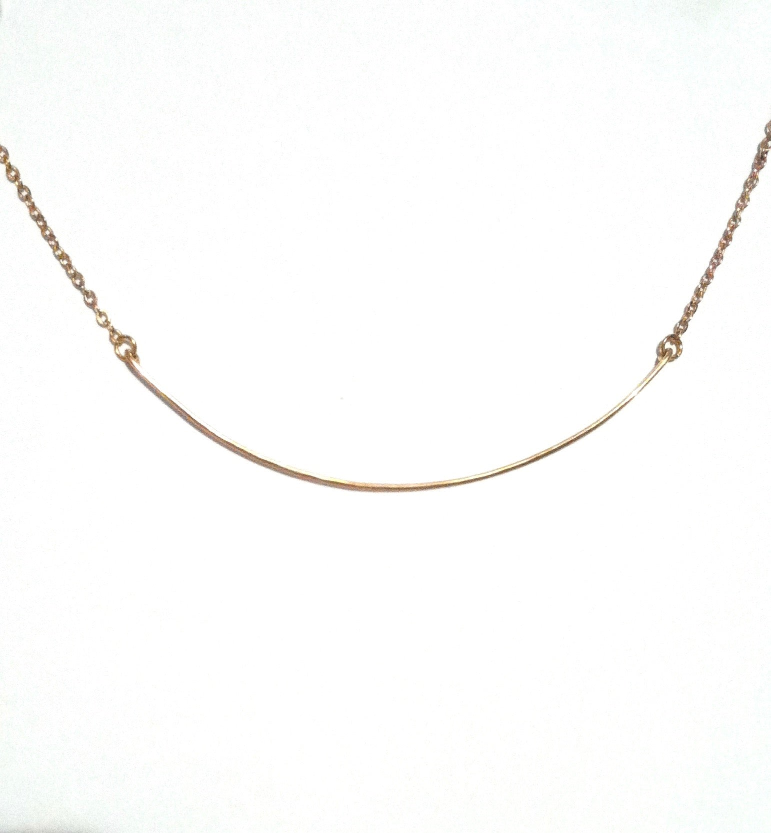 Short Bar Simple Thin Wire Choker Necklace | IB Jewelry