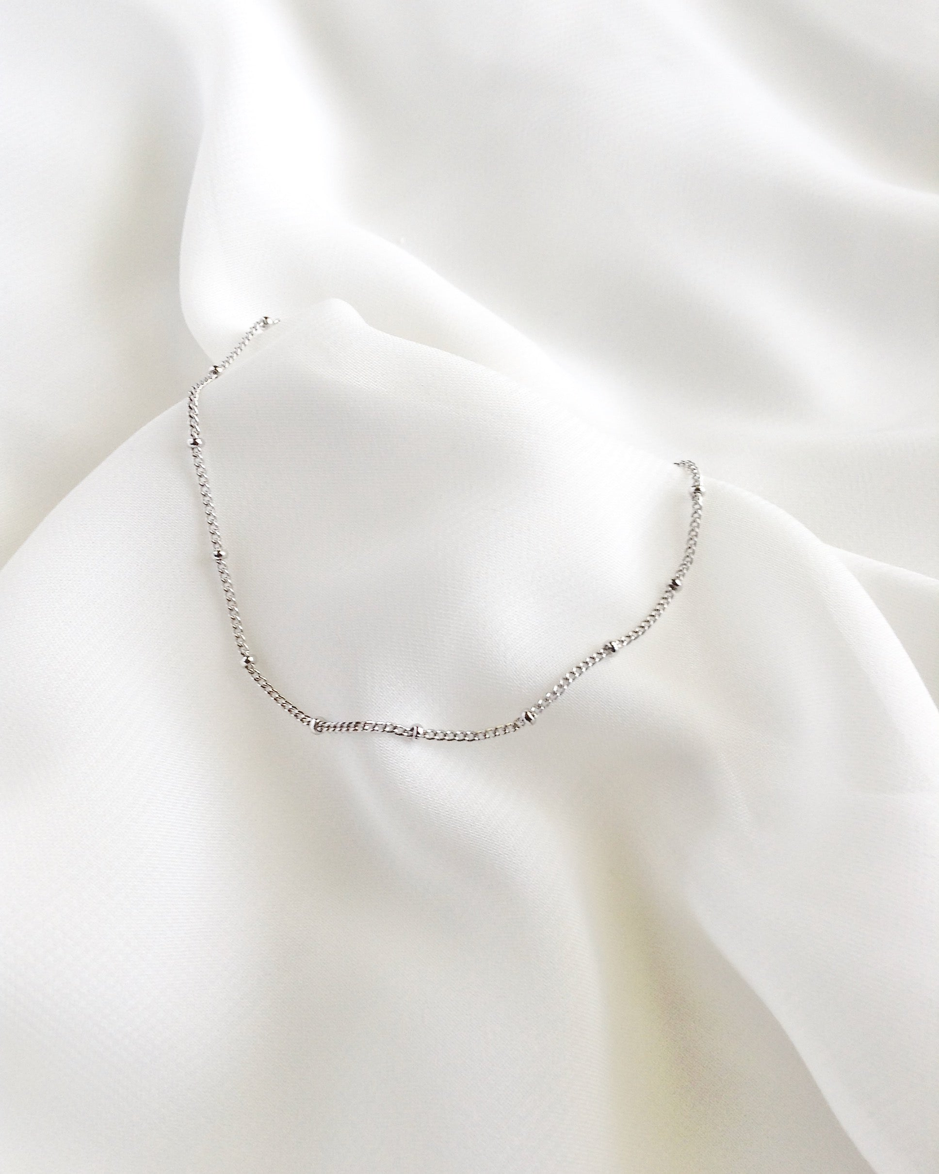 Dainty Minimalist Chain Bracelet in Sterling Silver or Gold Filled | IB Jewelry