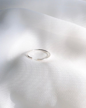 Dainty Minimalist Ring | Thin Open Cuff Ring | IB Jewelry