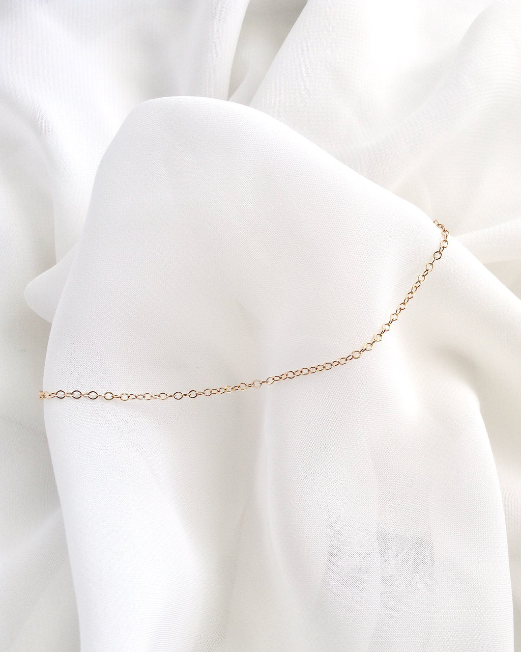 Minimalist Anklet in Gold Filled or Sterling Silver | Dainty Anklet | IB Jewelry