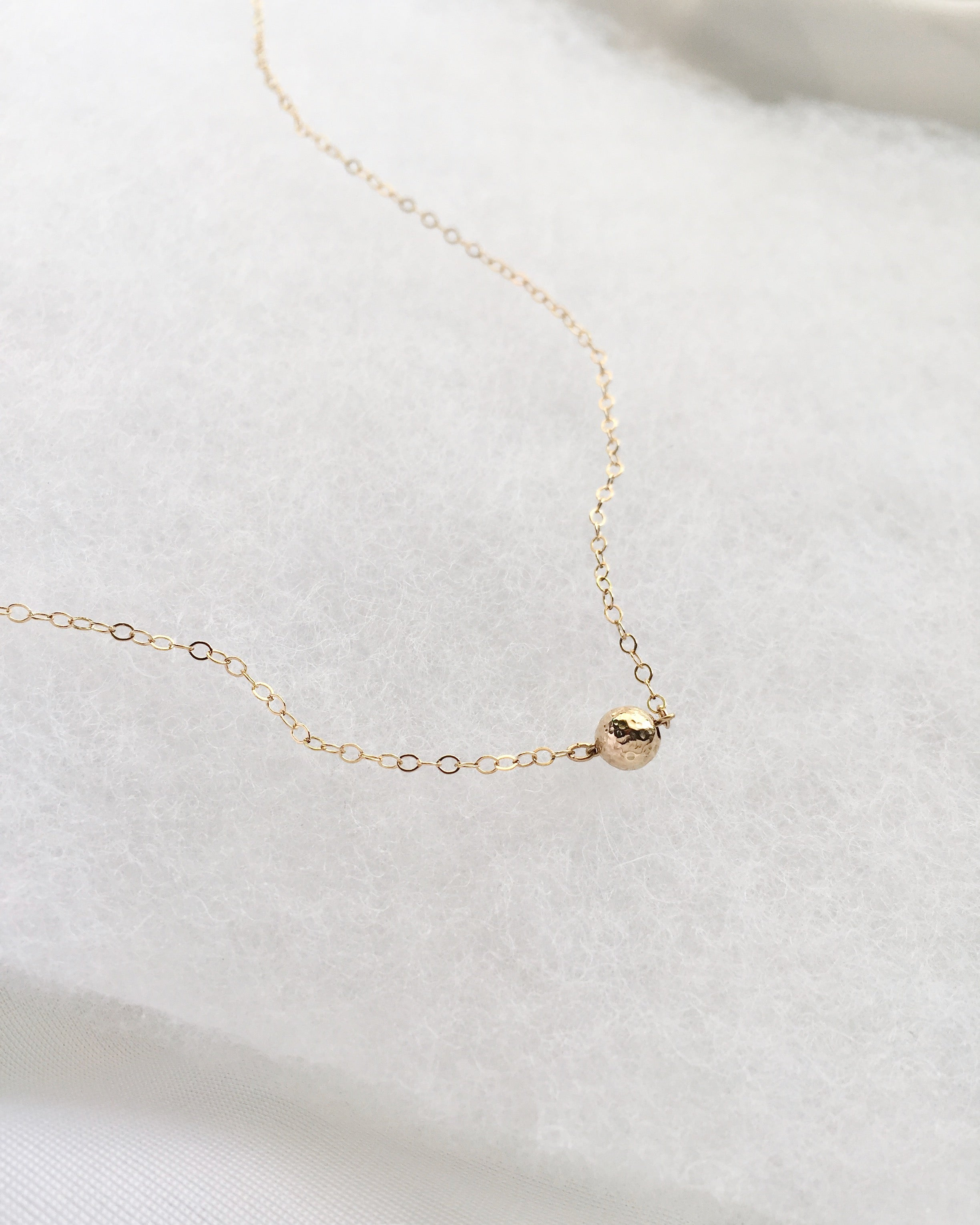 Dainty Gold Ball Necklace | Delicate Choker Necklace | IB Jewelry