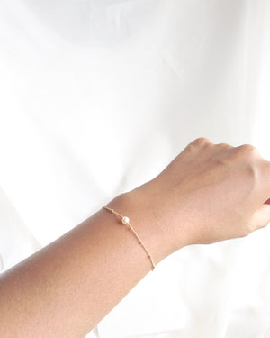 Single Pearl Bracelet In Gold Filled or Sterling Silver | IB Jewelry