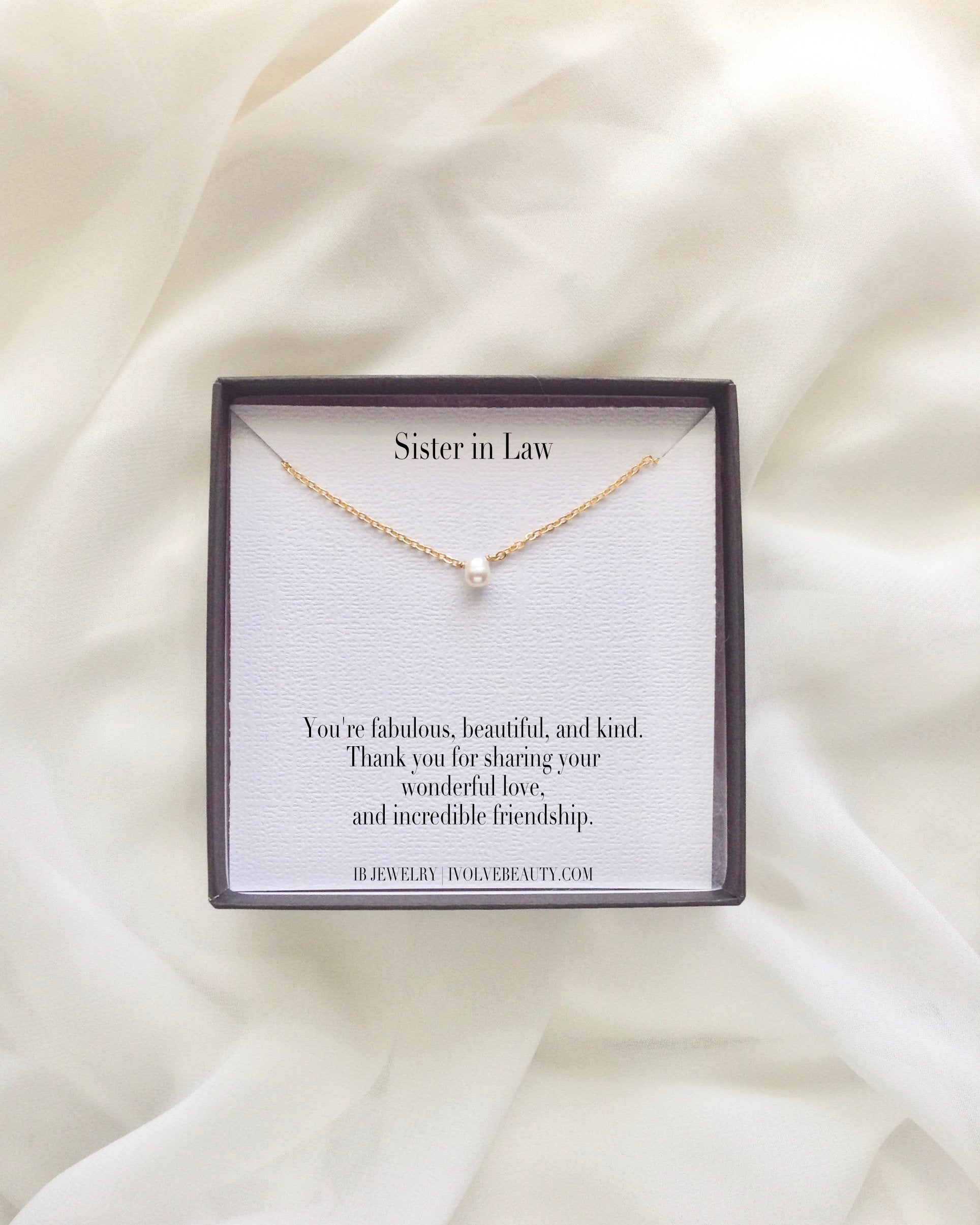 Sister In Law Meaningful Necklace Gift | IB Jewelry