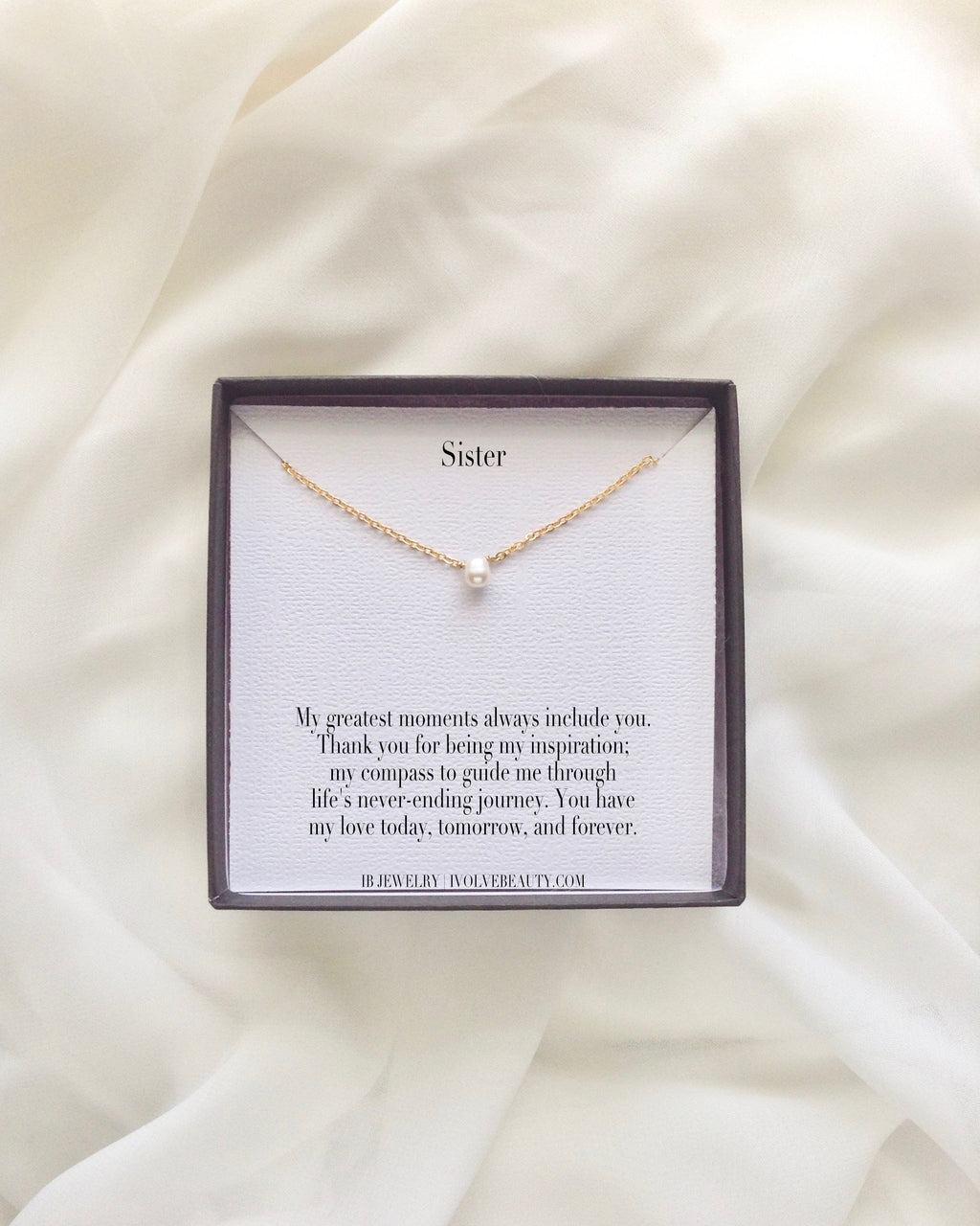 Sister Meaningful Necklace Gift | IB Jewelry