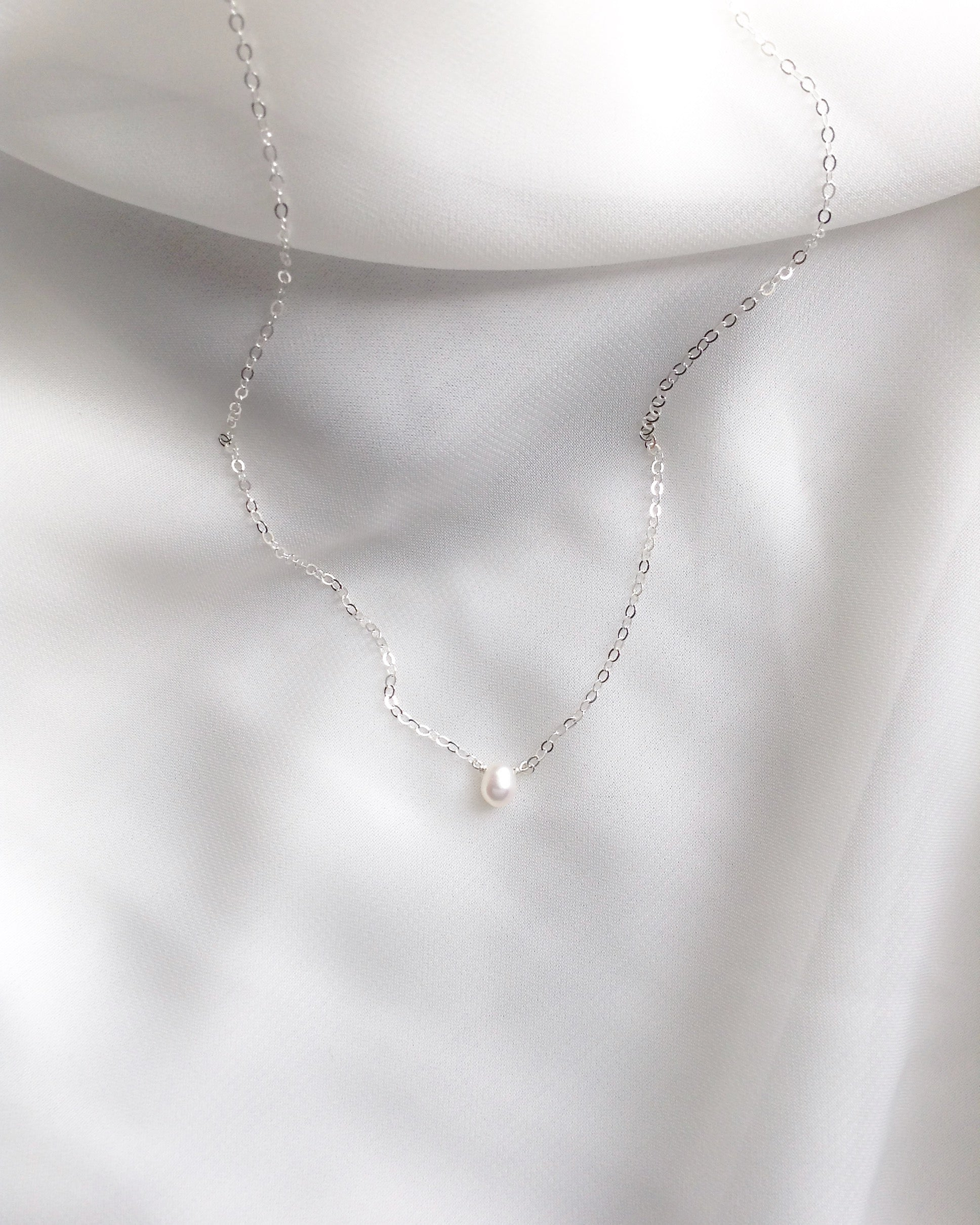 Delicate Pearl Choker Necklace | Simple Everyday Choker | IB Jewelry
